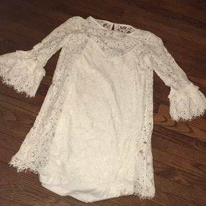 NWOT White Lace Sheath Fitted Dress Size Small
